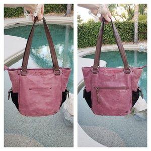 The Sak EUC large shoulder leather bag